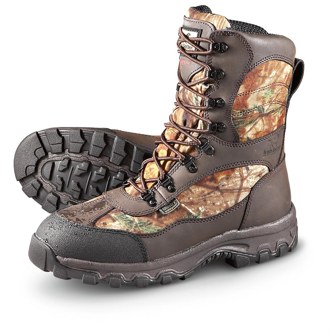 Men's Irish Setter® 9 inch Waterproof 600 grams Thinsulate™ Ultra Insulation Trail Phantom Boots, Realtree® AP™