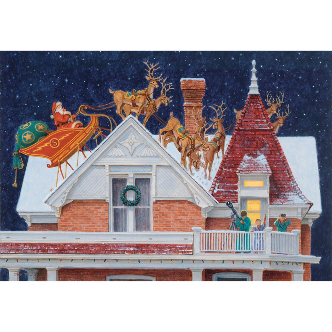 Roof Top Santa Floor Mat from the Wild Wings Collection®