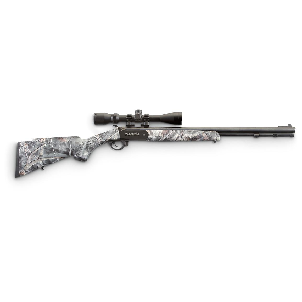 Traditions™ Canyon Reaper Black Powder Rifle, Blued / Reaper Camo