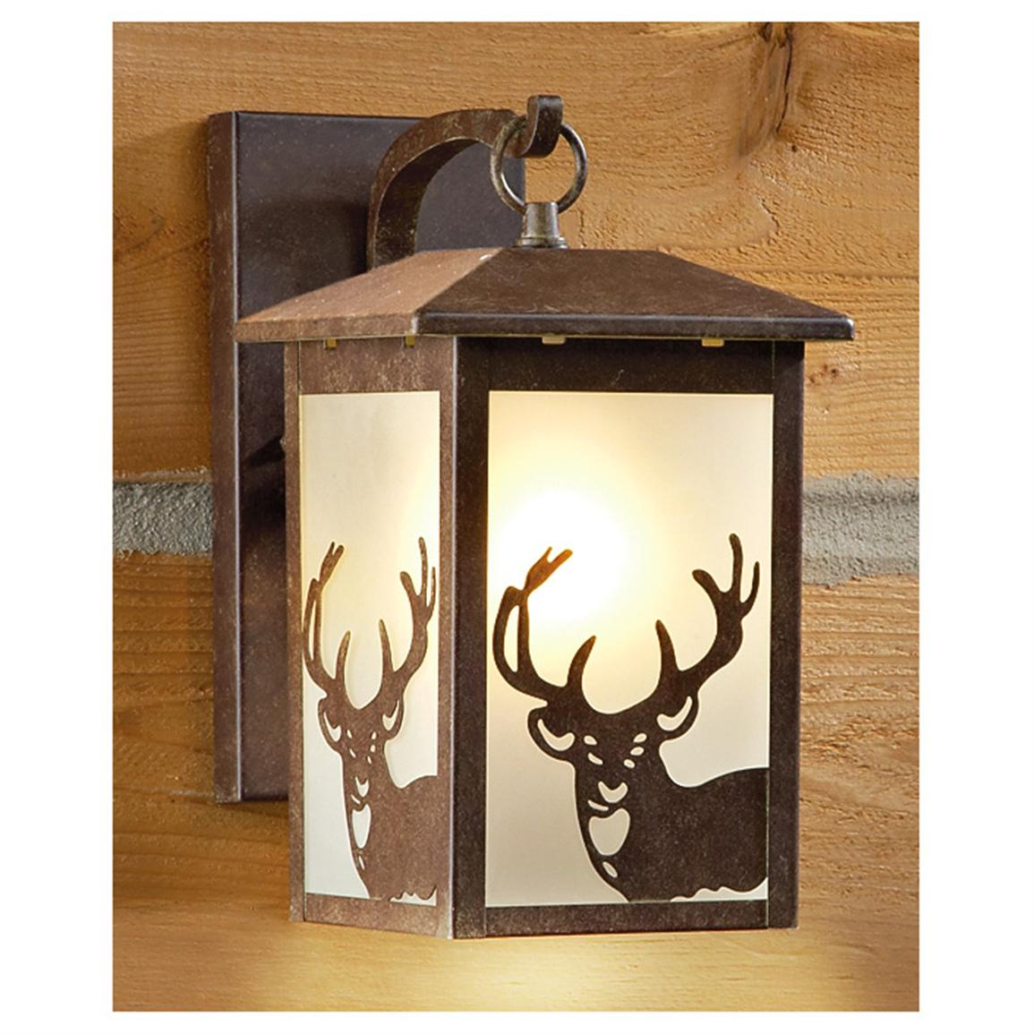 CASTLECREEK™ Rustic Outdoor Wall Lantern Deer  sc 1 st  Sportsmanu0027s Guide & CASTLECREEK™ Rustic Outdoor Wall Lantern - 225944 Solar u0026 Outdoor ...