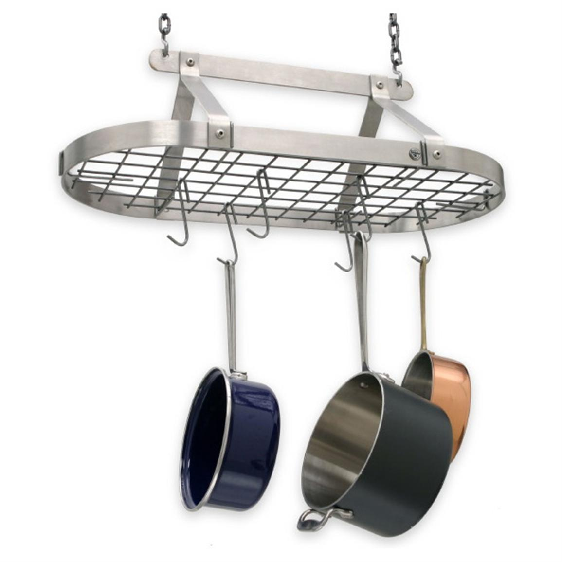 Enclume decor classic stainless steel hanging pot rack Pot and pan rack