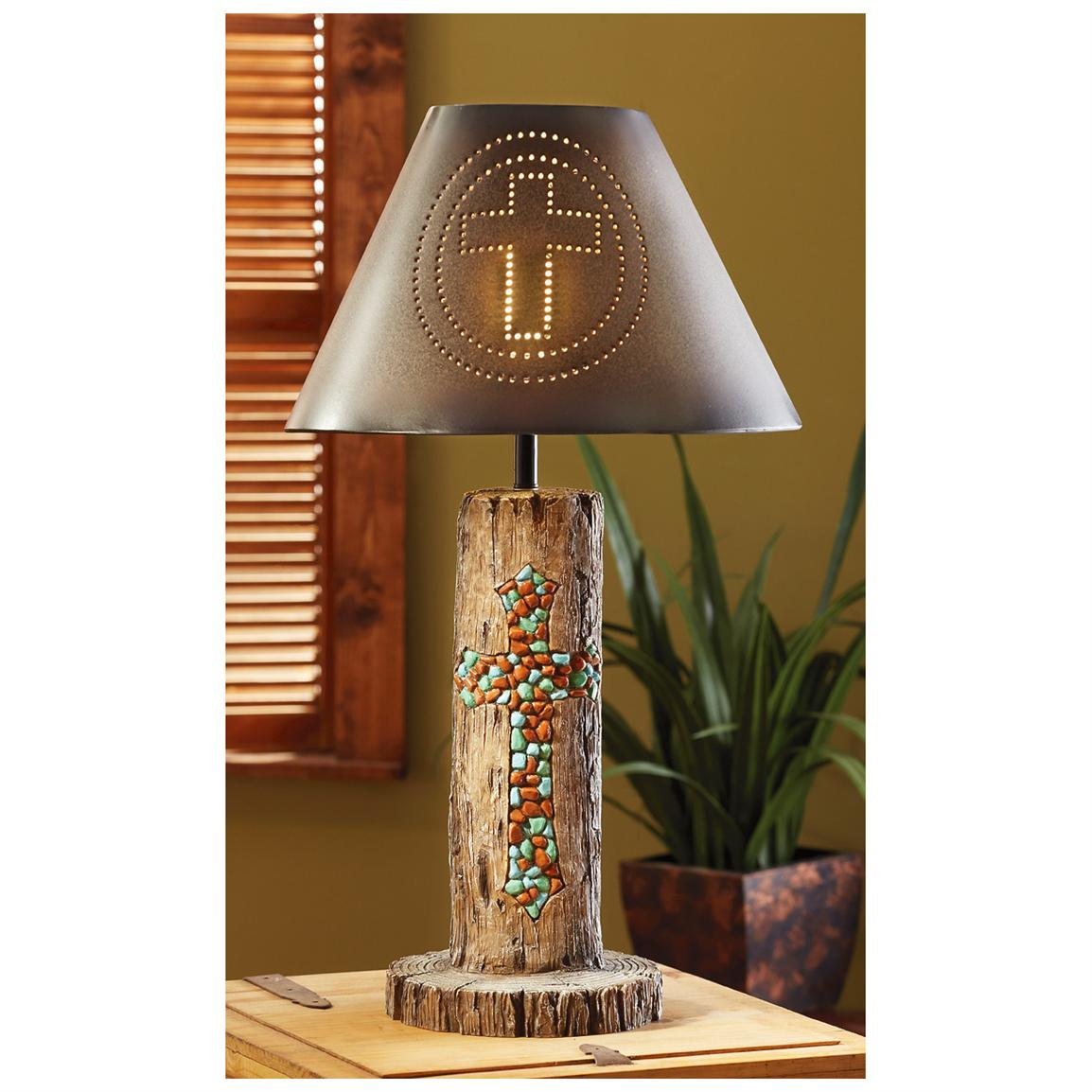 CASTLECREEK™ Rustic Cross Table Lamp