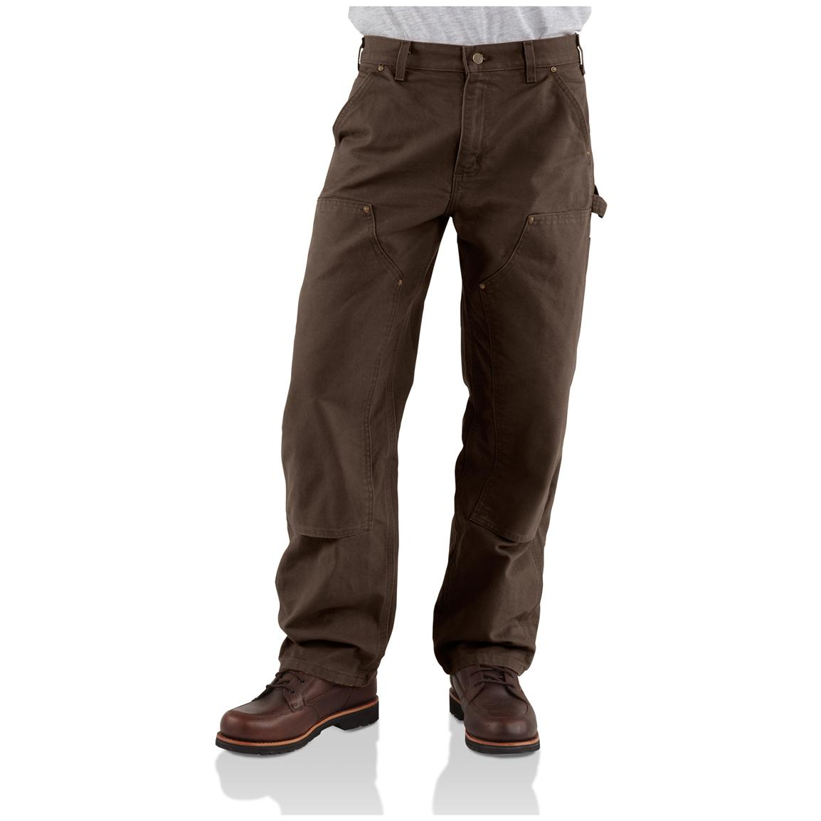 Carhartt® Double Front Work Jeans, Dark Brown