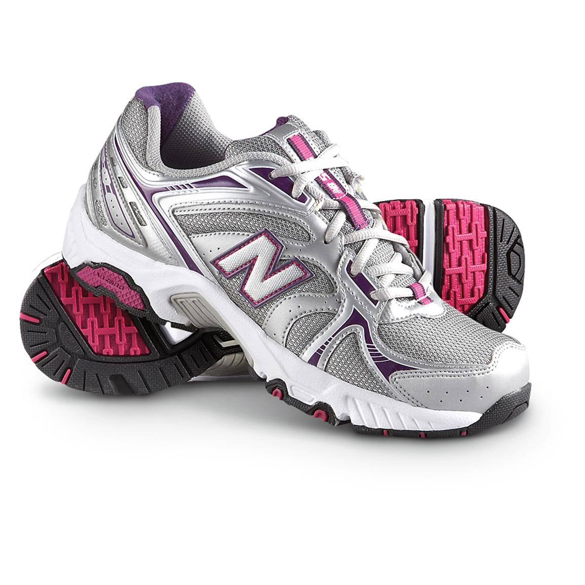 Women's New Balance® 506 Athletic Shoes, Silver / Purple ...
