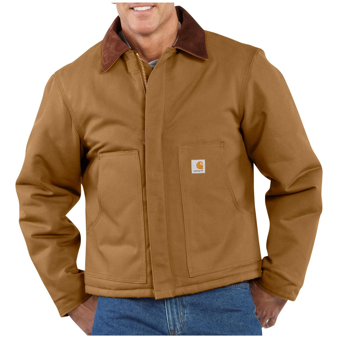 Men's Carhartt® Workwear Duck Traditional Jacket, Brown