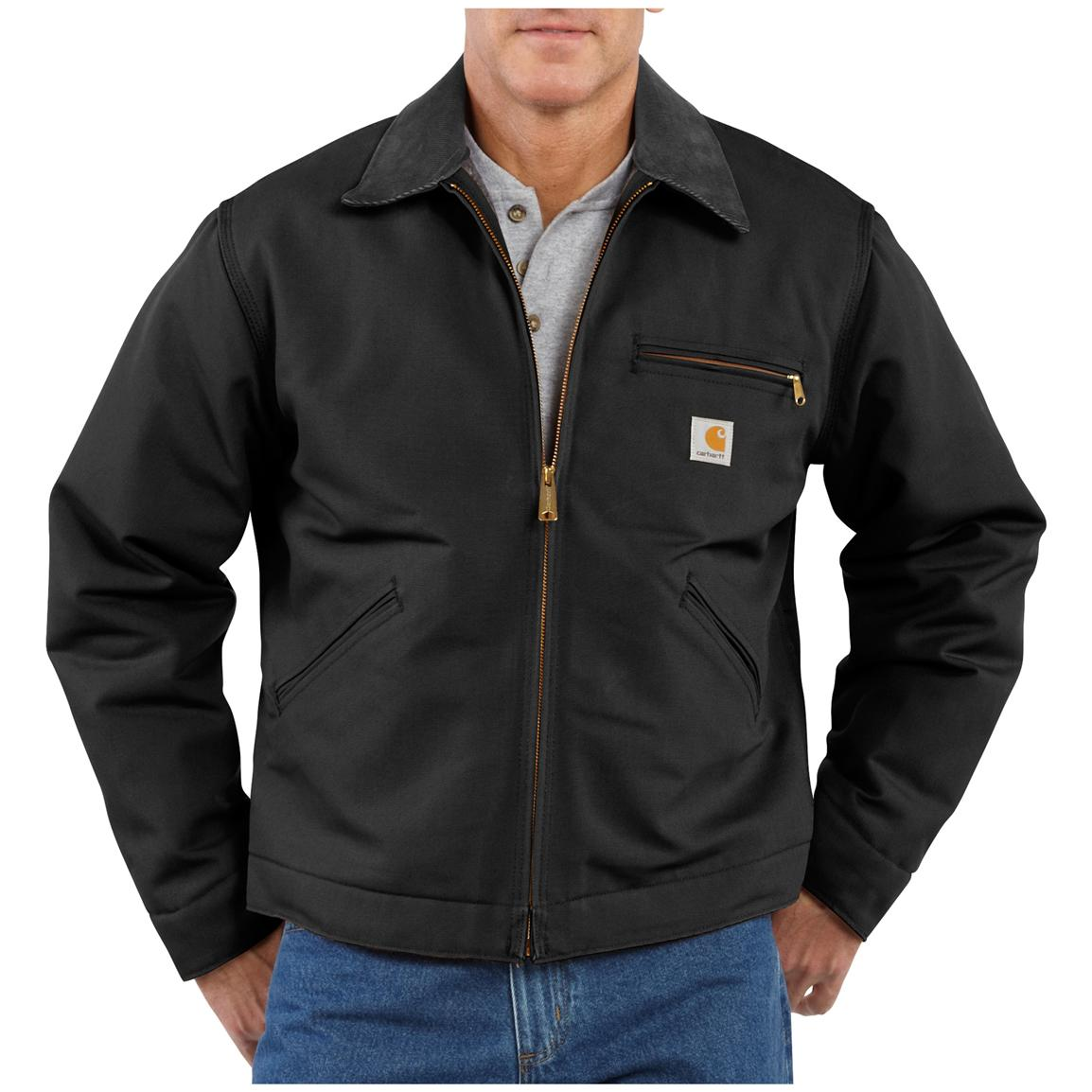 Men's Carhartt® Workwear Duck Detroit Jacket, Black