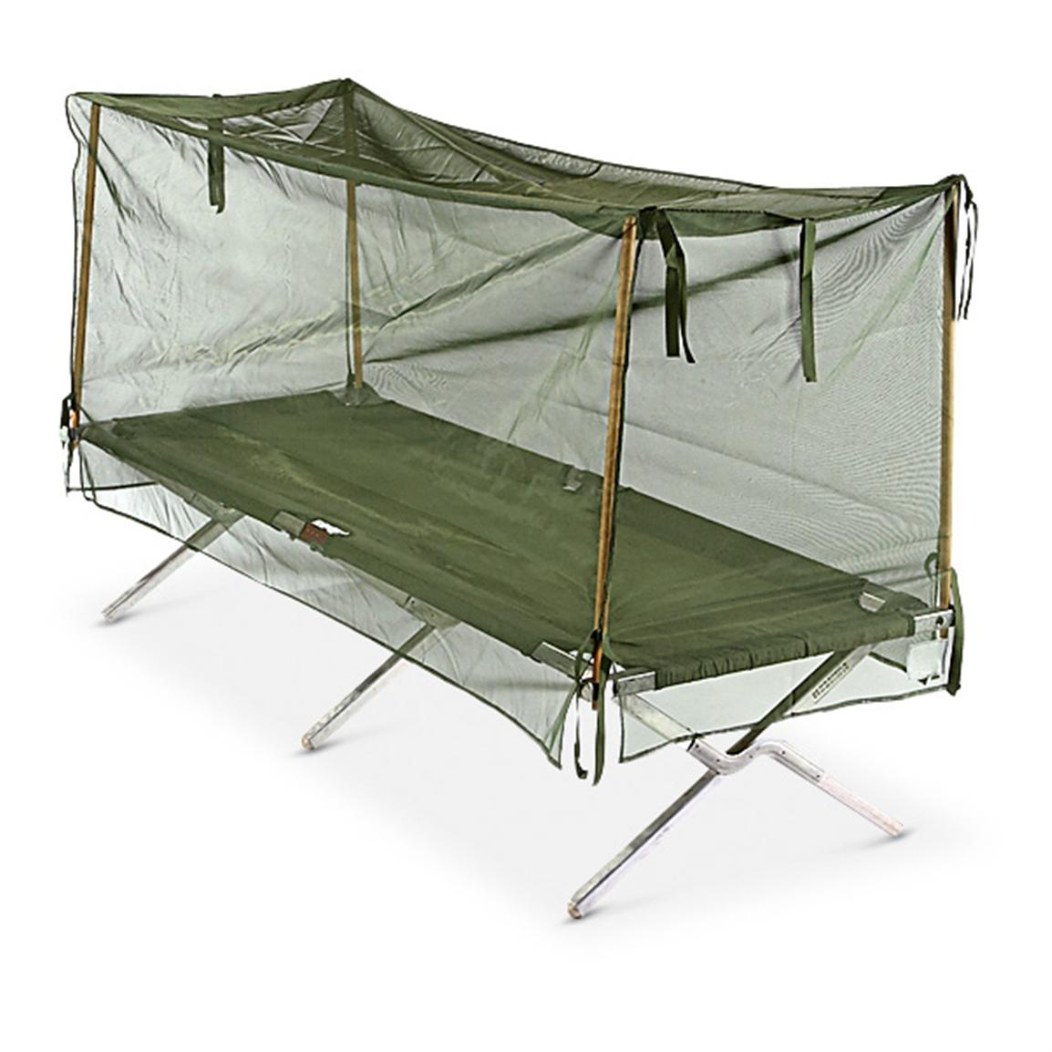 New U.S. Military Surplus Mosquito Net, Olive Drab