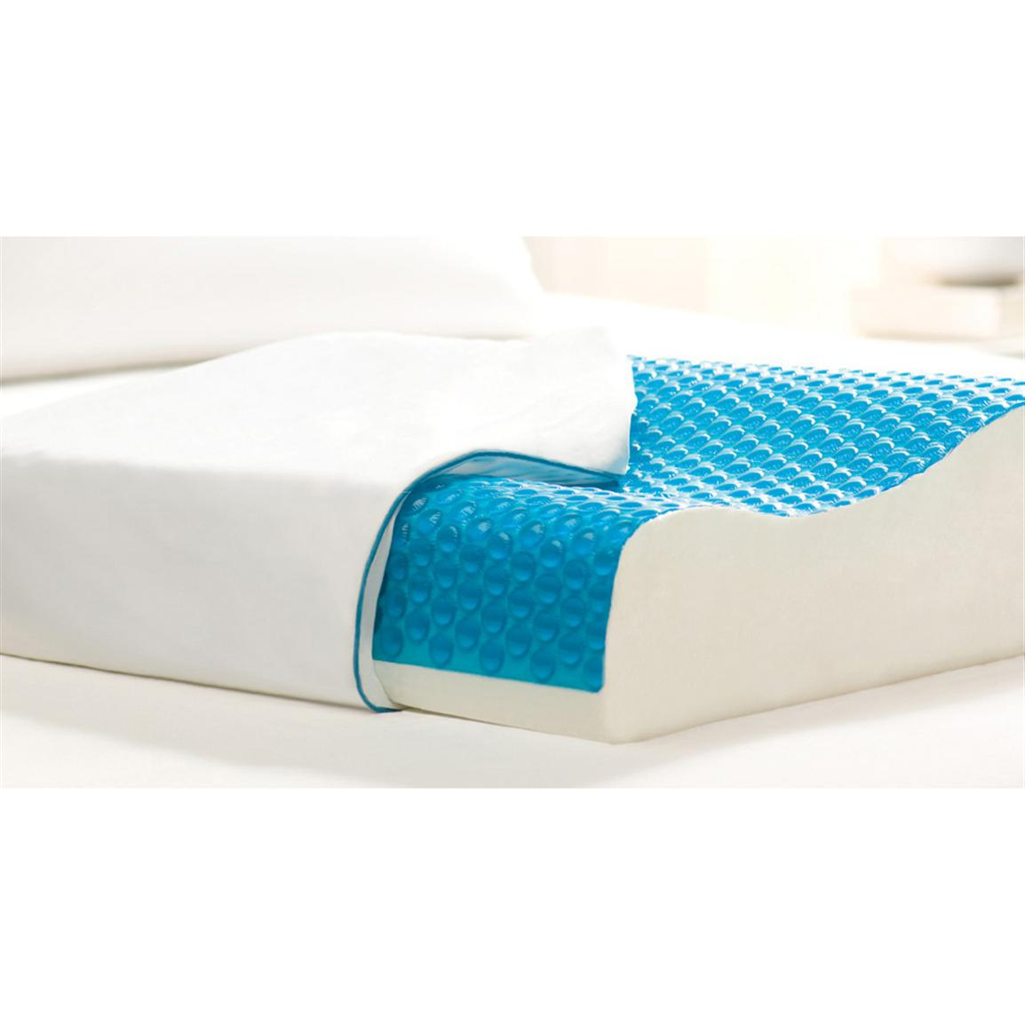 Hydraluxe Memory Foam Amp Hydraluxe Gel Contour Pillow
