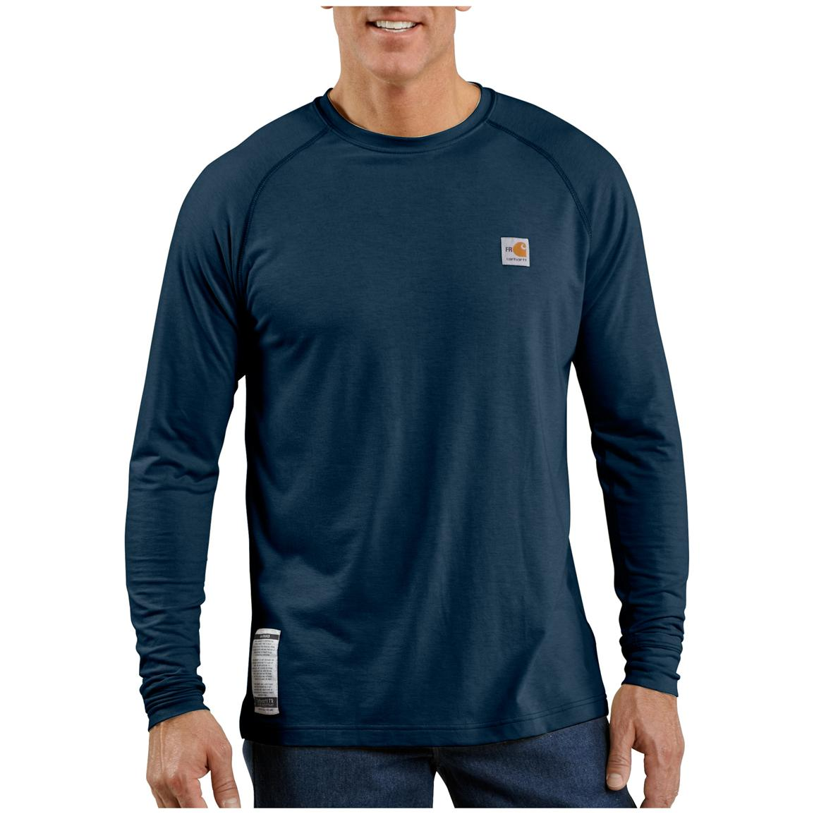 Men's Carhartt® Flame-resistant Force™ Long-sleeve T-shirt, Dark Navy