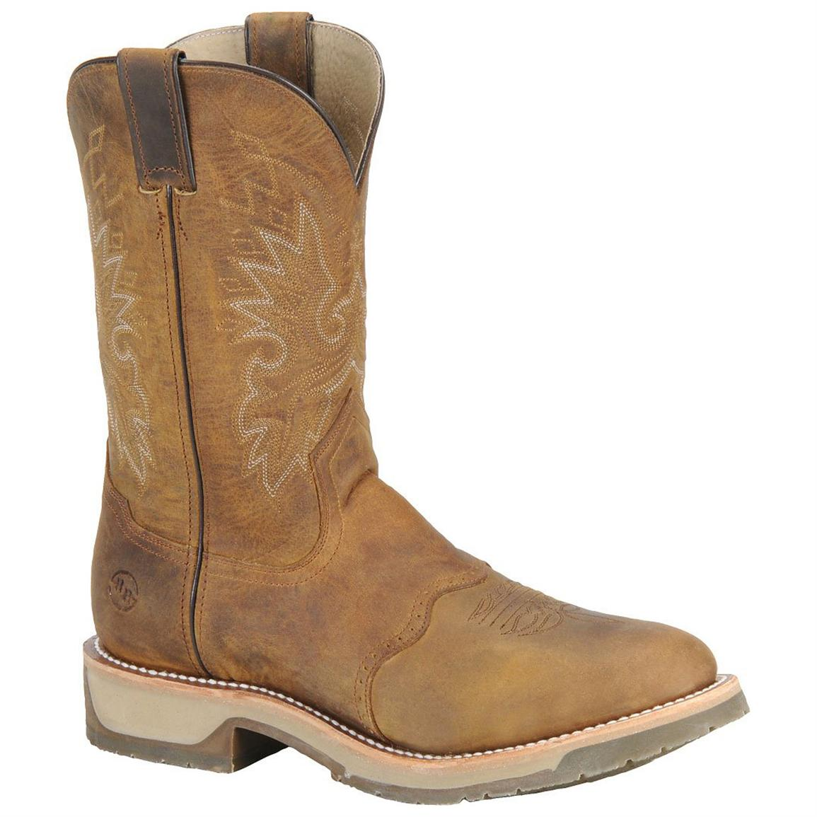 Men's Double H Boots® ICE™ Roper Cowboy Boots, Oldtown Folklore