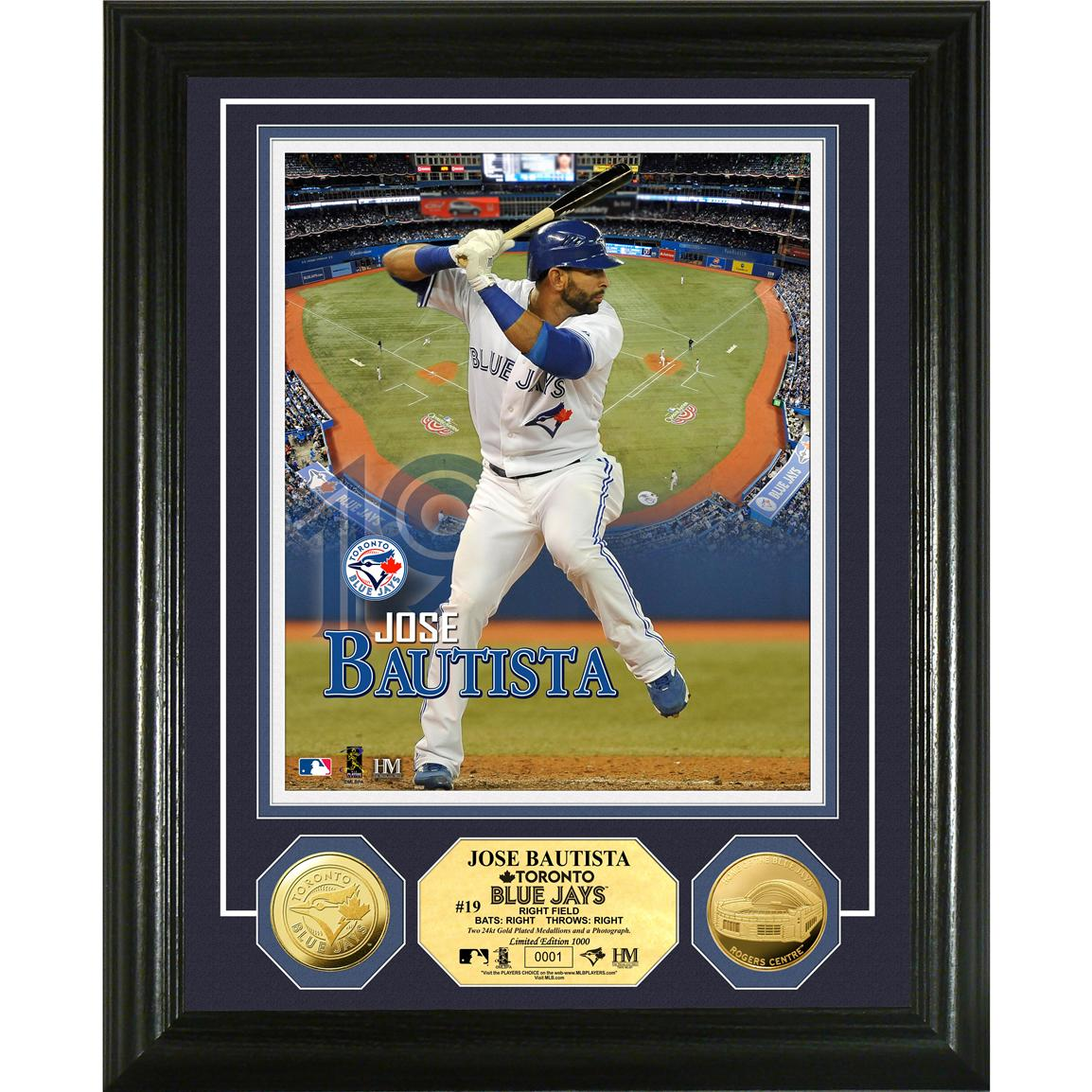 The Highland Mint® Jose Bautista Gold Coin Photo Mint