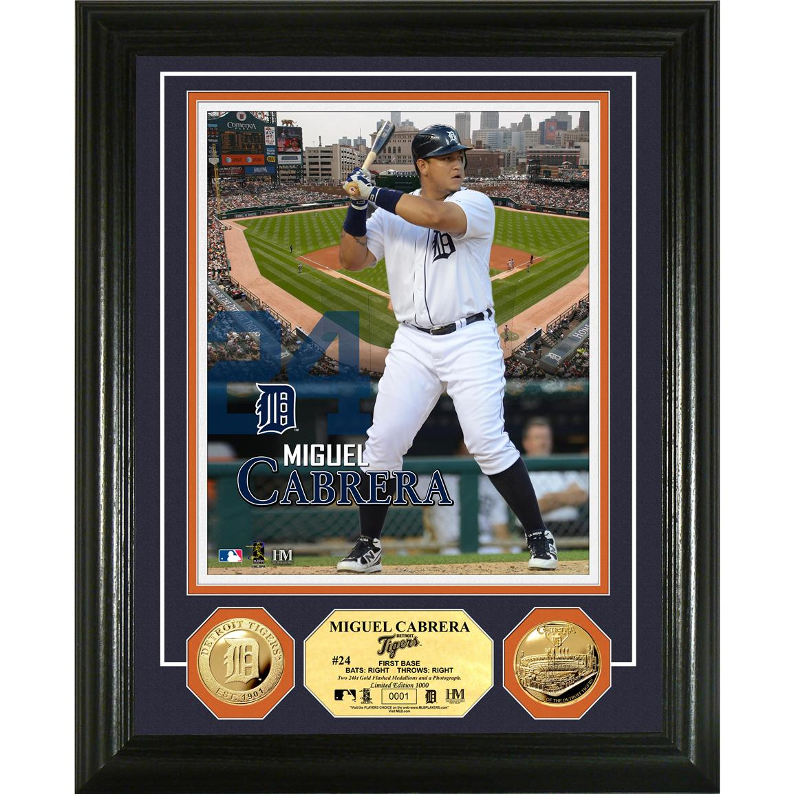 The Highland Mint® Miguel Cabrera Gold Coin Photo Mint