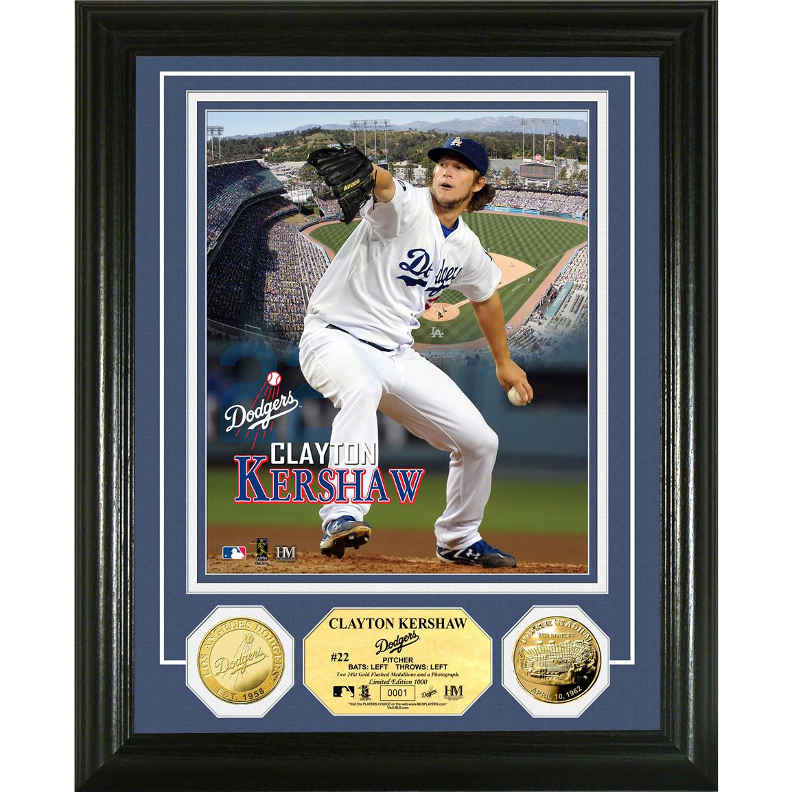 The Highland Mint® Clayton Kershaw Coin Photo Mint