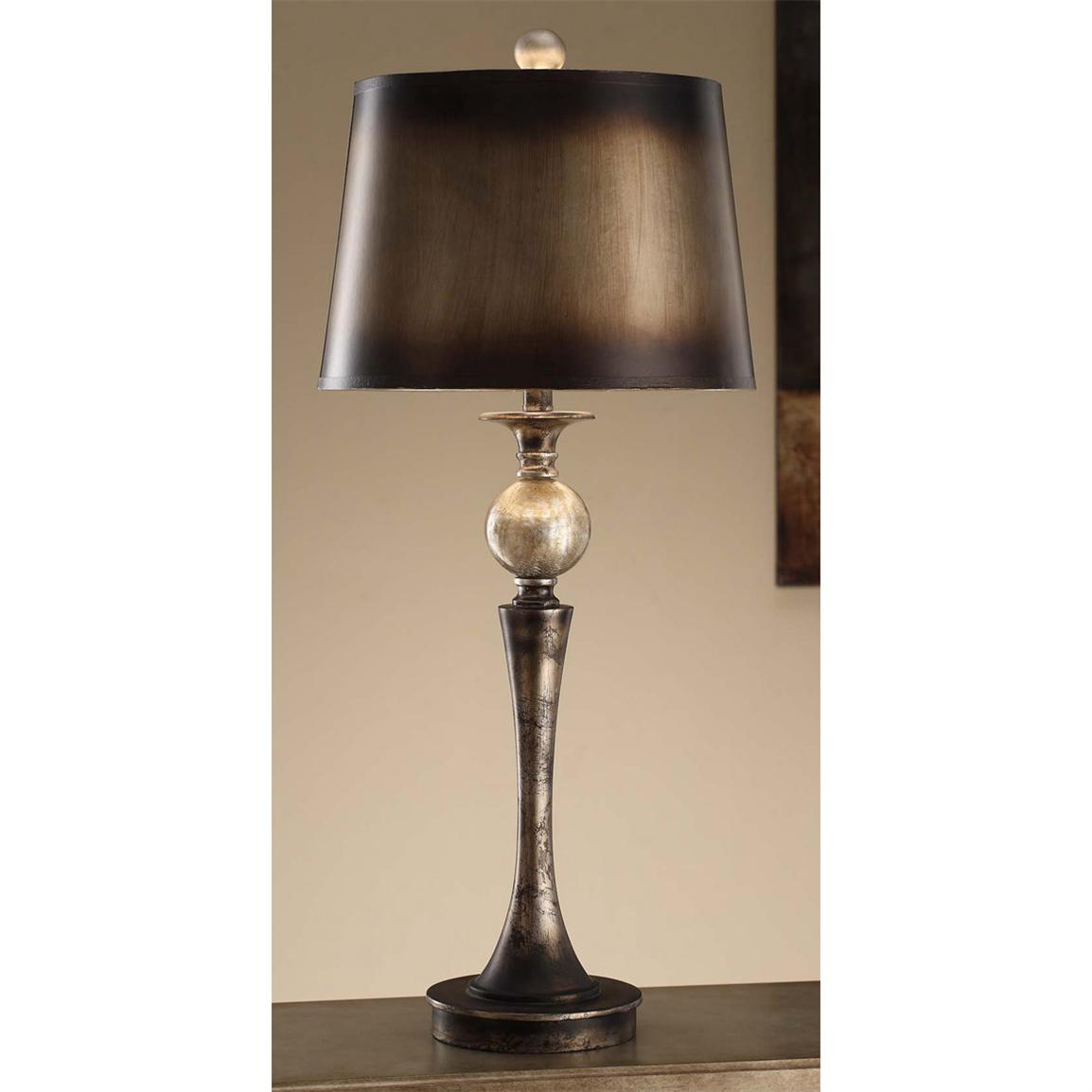 Crestview Collection® Blackened Silver Table Lamp