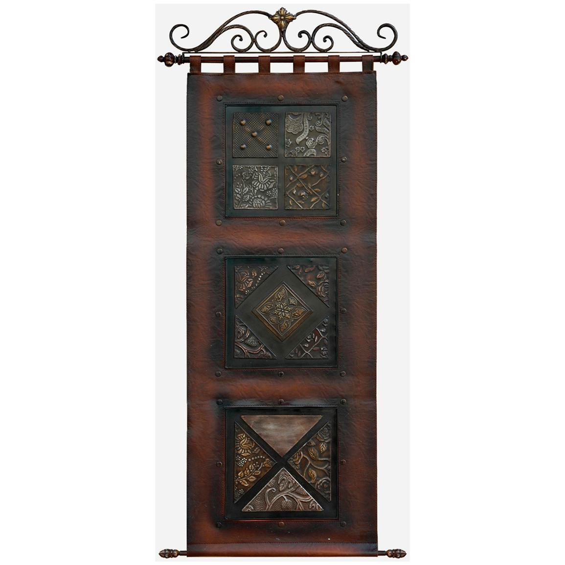 Crestview Collection® Scroll Leather Wall Art