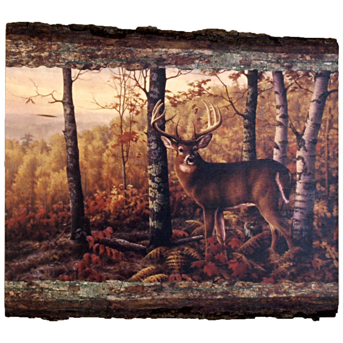 "Walnut Hollow® ""Whitetail Buck"" Wall Art by Greg Alexander, Rectangle"
