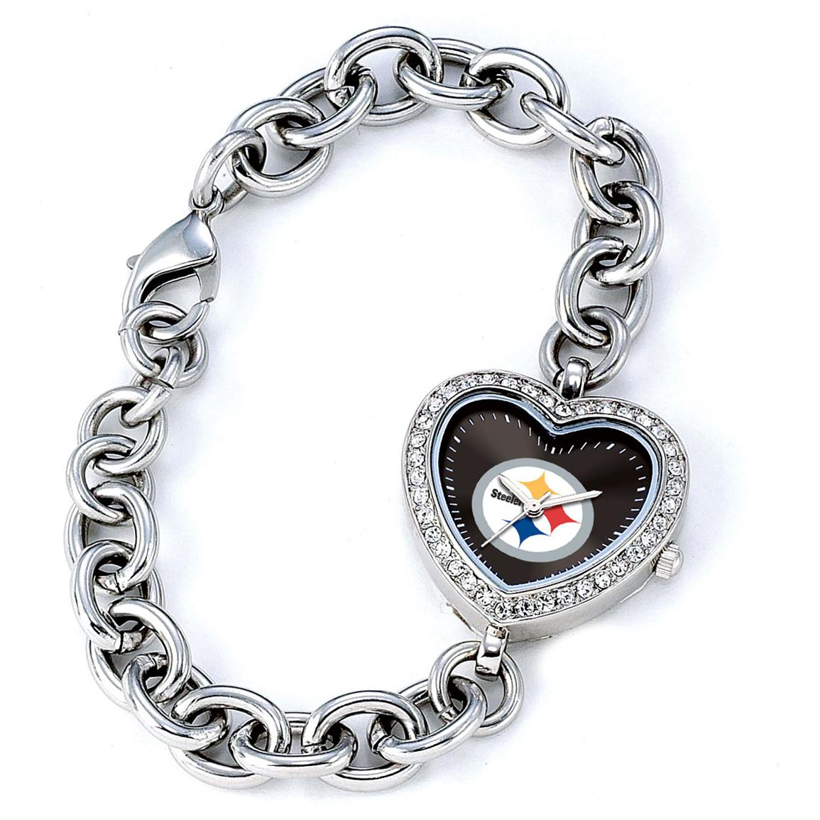 Women's Game Time® MLB Heart Series Watch, Pittsburgh Steelers