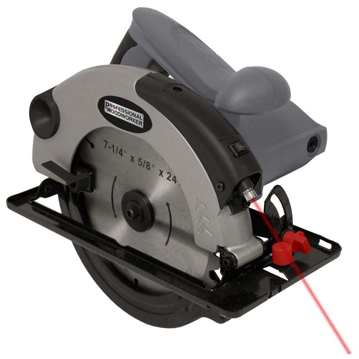 Professional Woodworker 7 1/4 inch Circular Saw with Laser Guide
