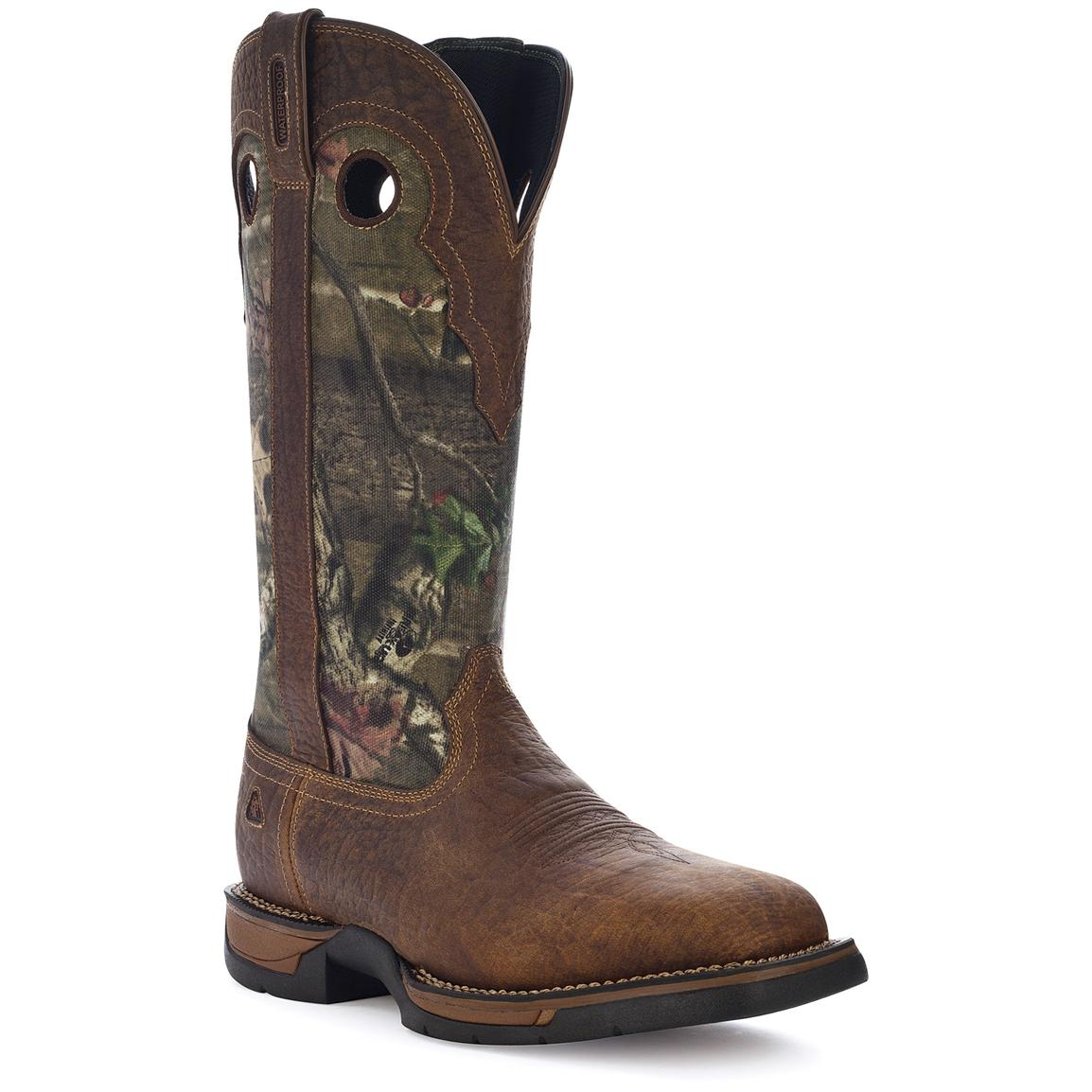Men's Rocky® 15 inch Long Range Square Toe Camo Snake Boots, Nicotine / Mossy Oak® Break-Up Infinity®