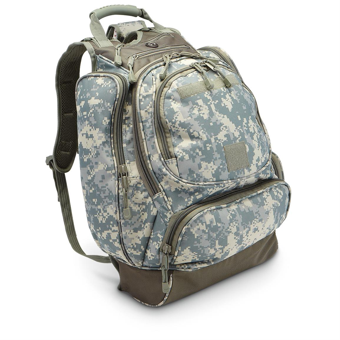 Military surplus-style Backpack, ACU Digital Camo; 2,730-cu. in. capacity; Built-tough to pack your stuff!