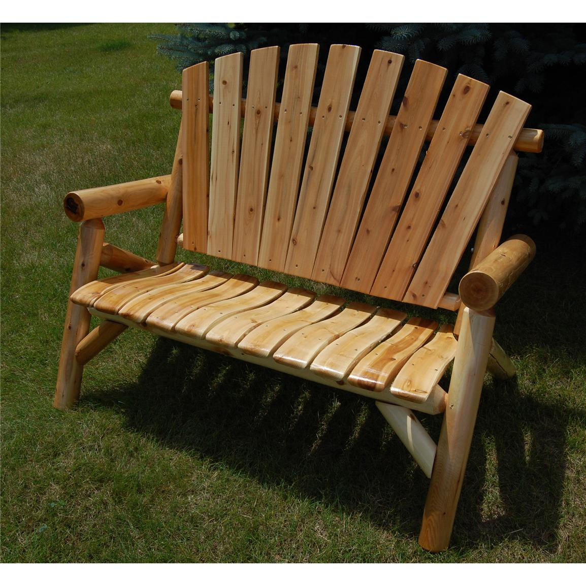 Moon Valley Cedar Works Settee Chair