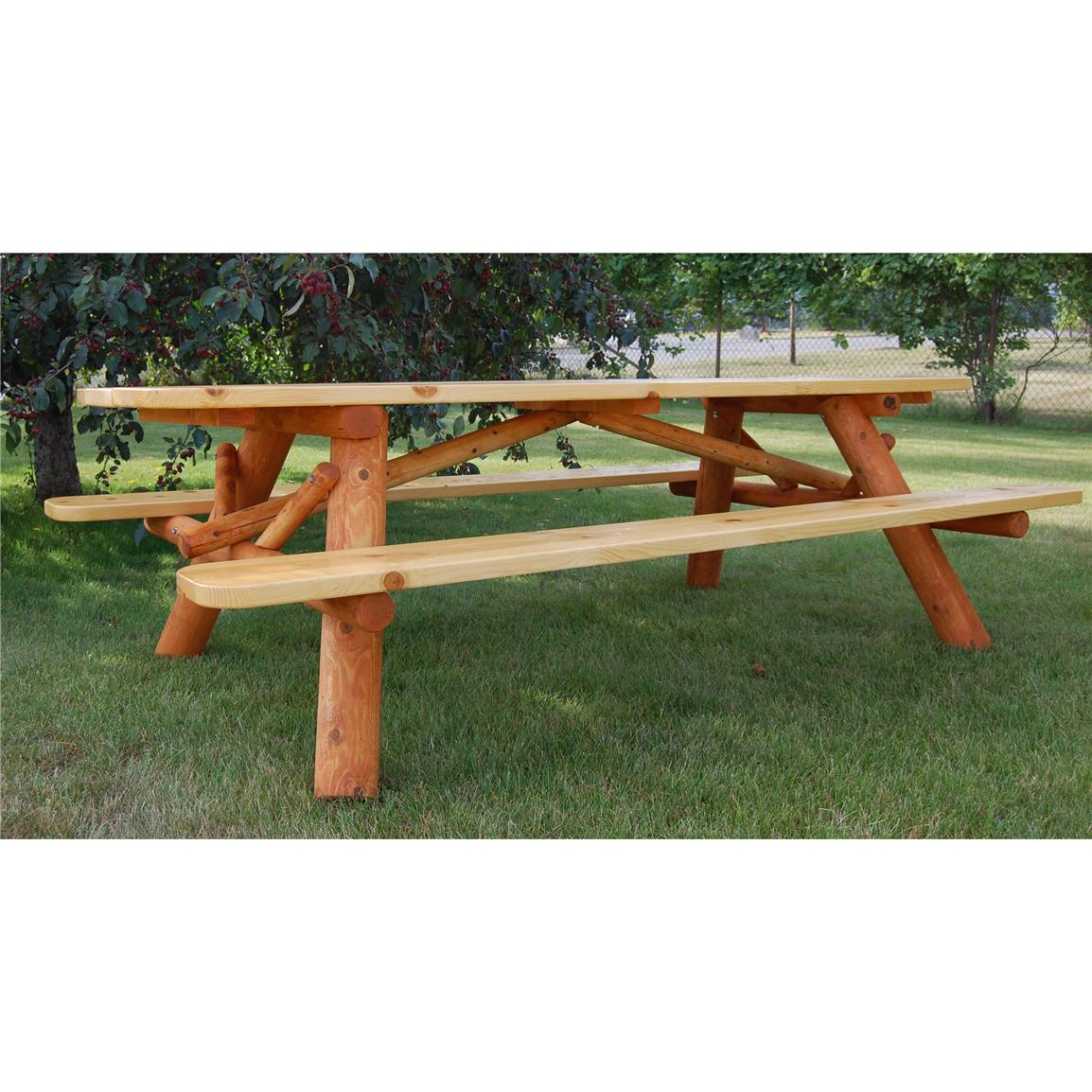 Moon Valley Cedar Works 7 foot Picnic Table