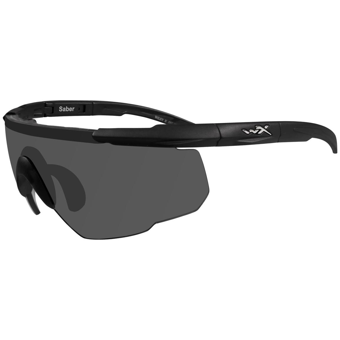 Wiley X® Saber Advanced Sunglasses, Single Lens Package, Smoke Grey