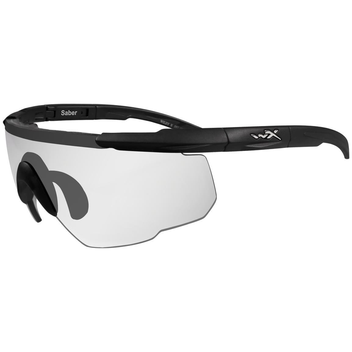 Wiley X® Saber Advanced Sunglasses, Single Lens Package, Clear