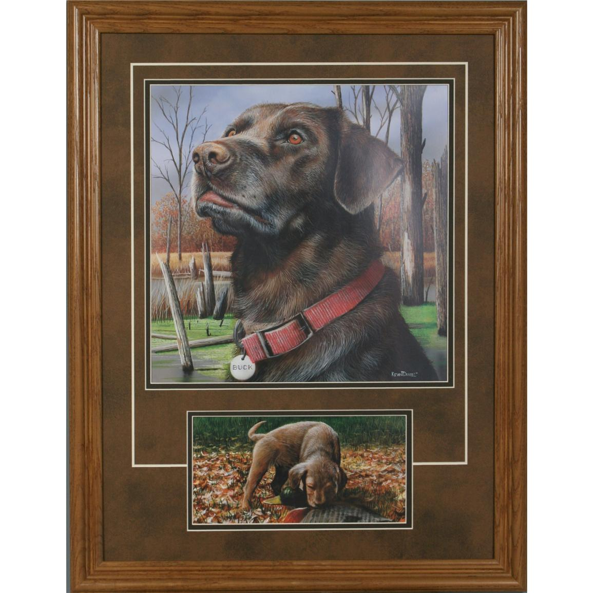 Personalized Hunting Dog Print by Kevin Daniel, Chocolate Lab
