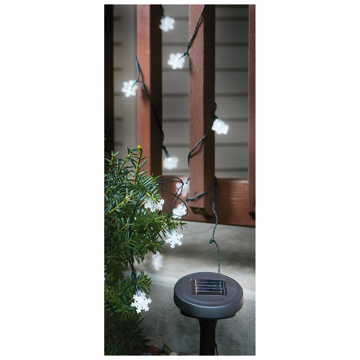 2-Pk. of Solar Snowflake Lights