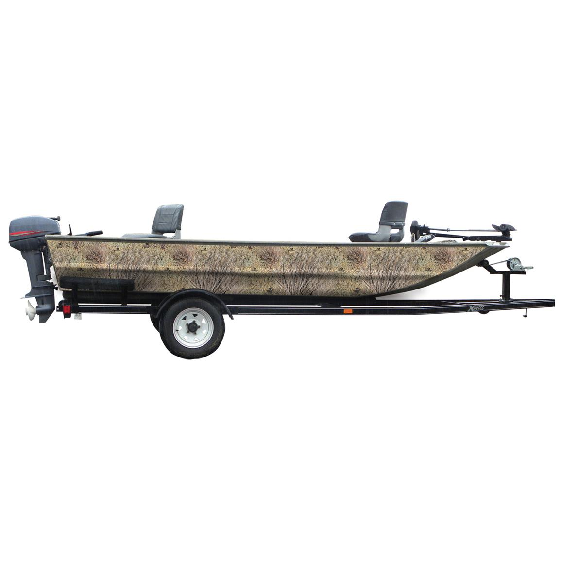 Mossy Oak Graphics® 16 foot Boat Side Camouflage Kit, MO Brush