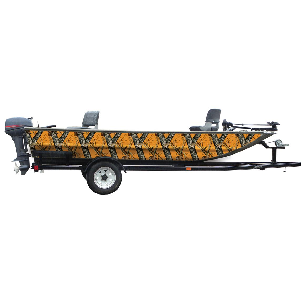Mossy Oak Graphics® 16 foot Boat Side Camouflage Kit, Blaze Camo