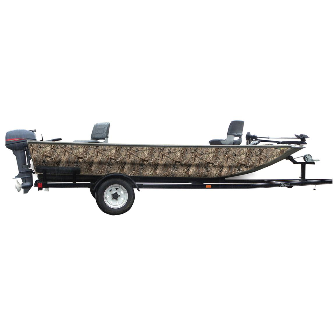 Mossy Oak Graphics® 16 foot Boat Side Camouflage Kit, Duck Blind