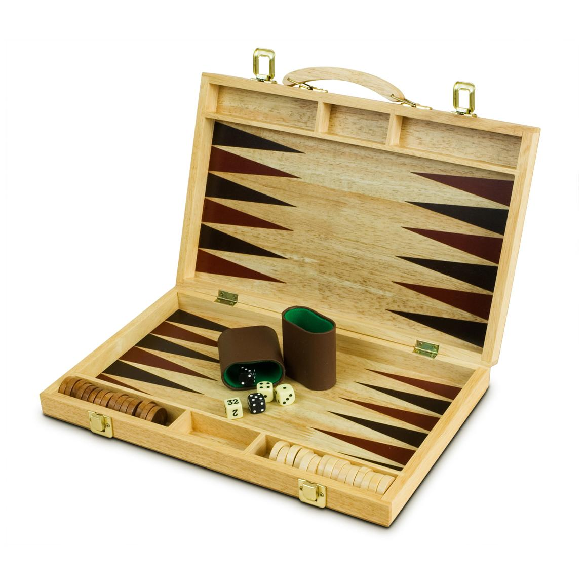 Sterling Games™ 15 inch Wooden Backgammon Set