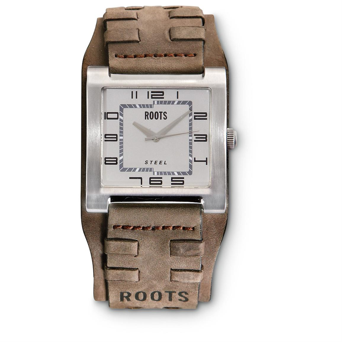 Roots® Leather Watch, Brown