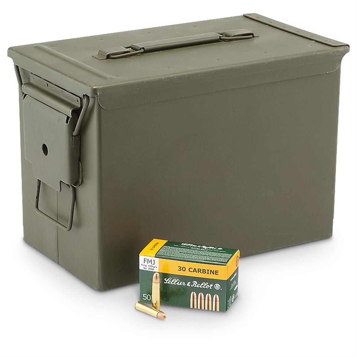 .30 Carbine Ammo with Can, FMJ, 110 Grain, 600 Rounds
