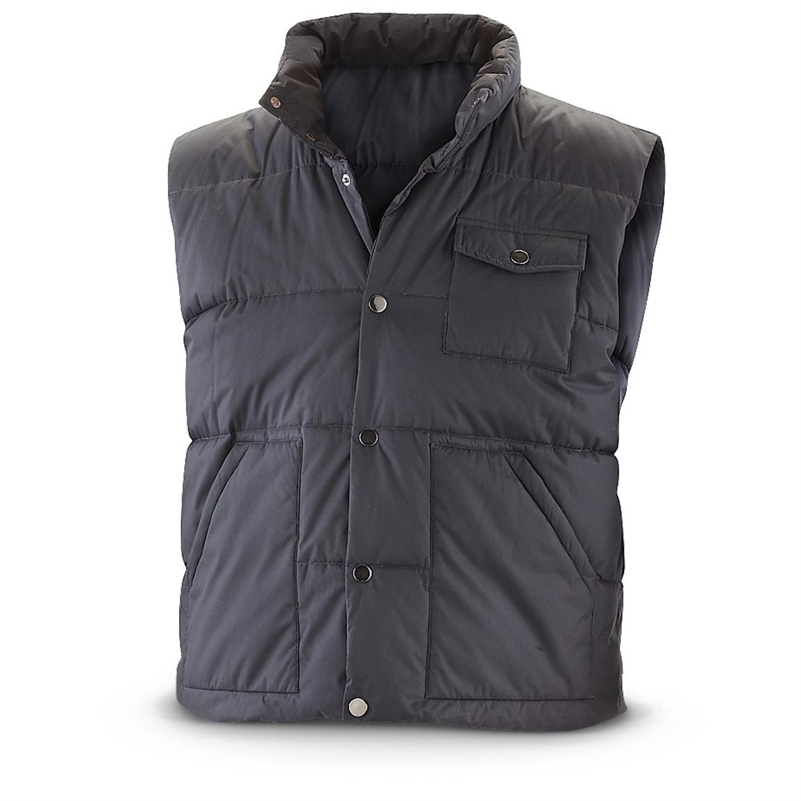 Insulated Polyester Vest, Black