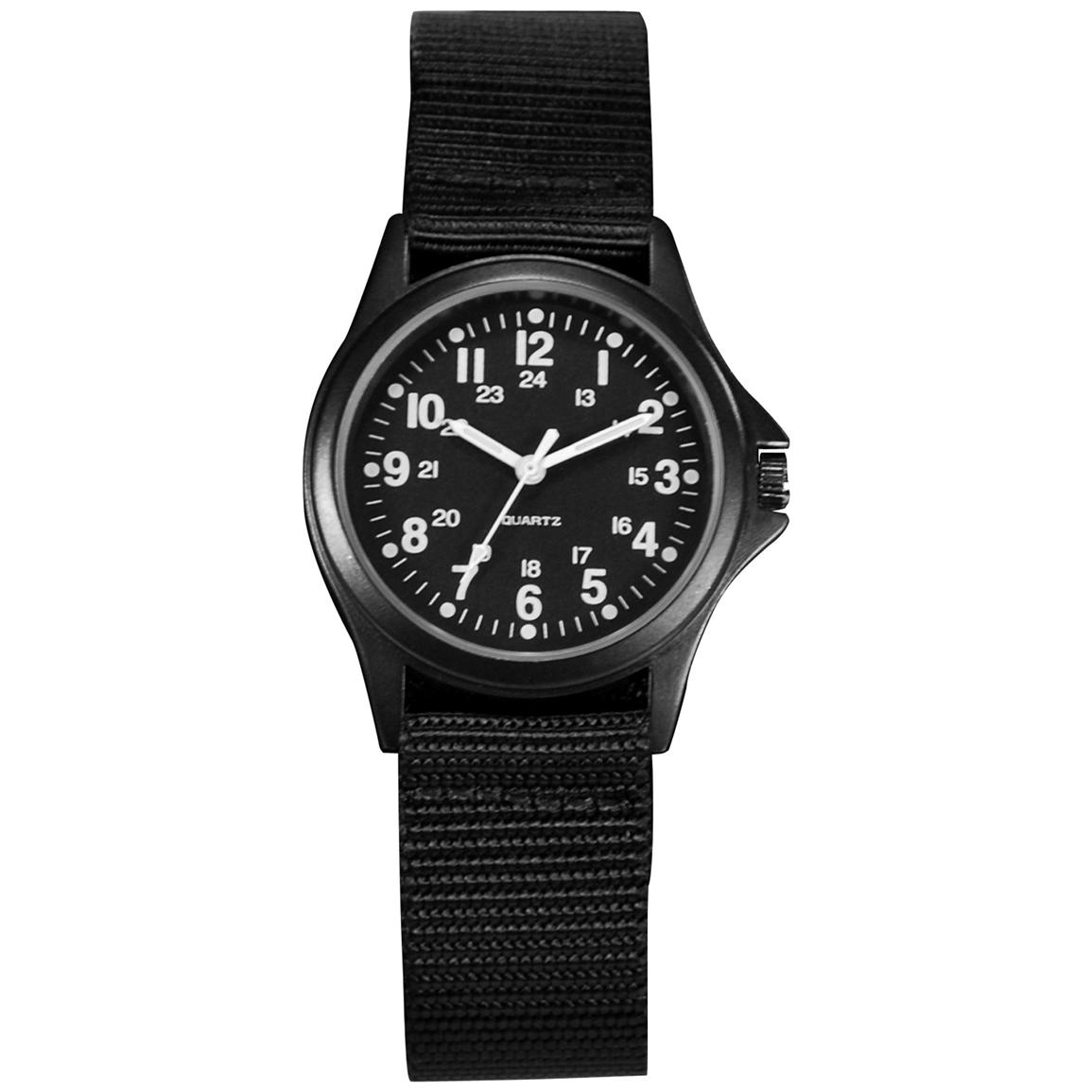 Ram All Black Case And Strap Field Watch