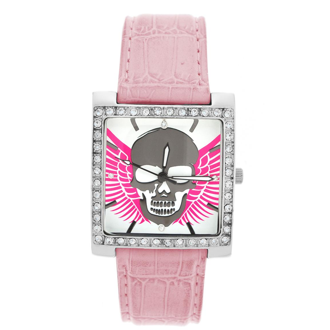 Ram Highway Honey Women's Pink with Skull & Wings Watch