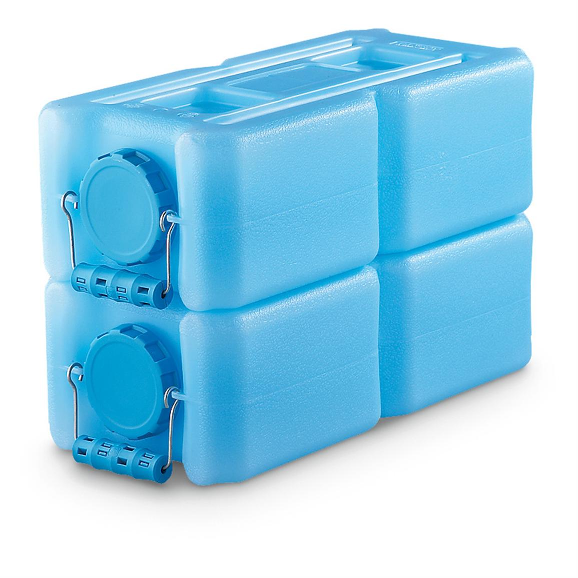 WaterBrick Stackable Water Storage Container, 3.5 Gallon , Blue