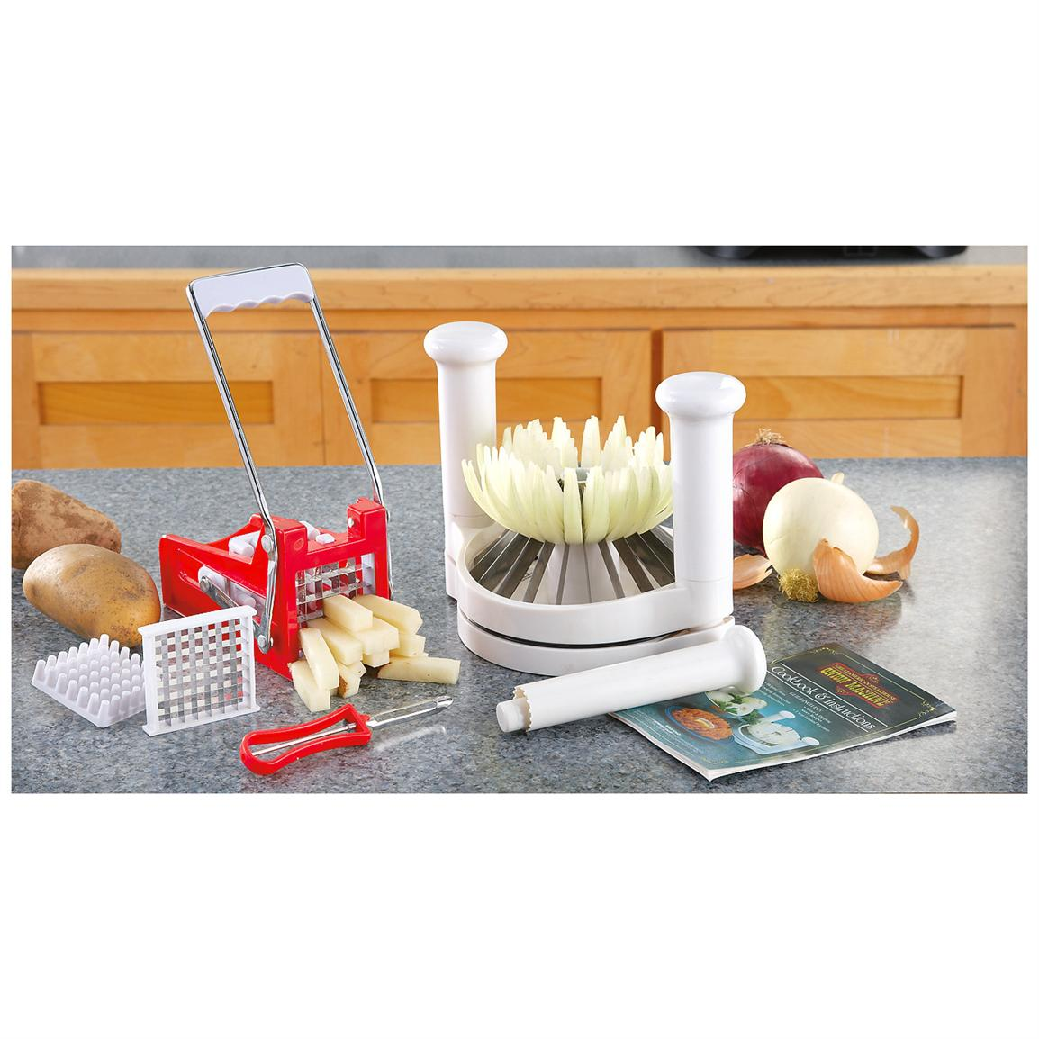 Onion Blossom Slicer & French Fry Cutter