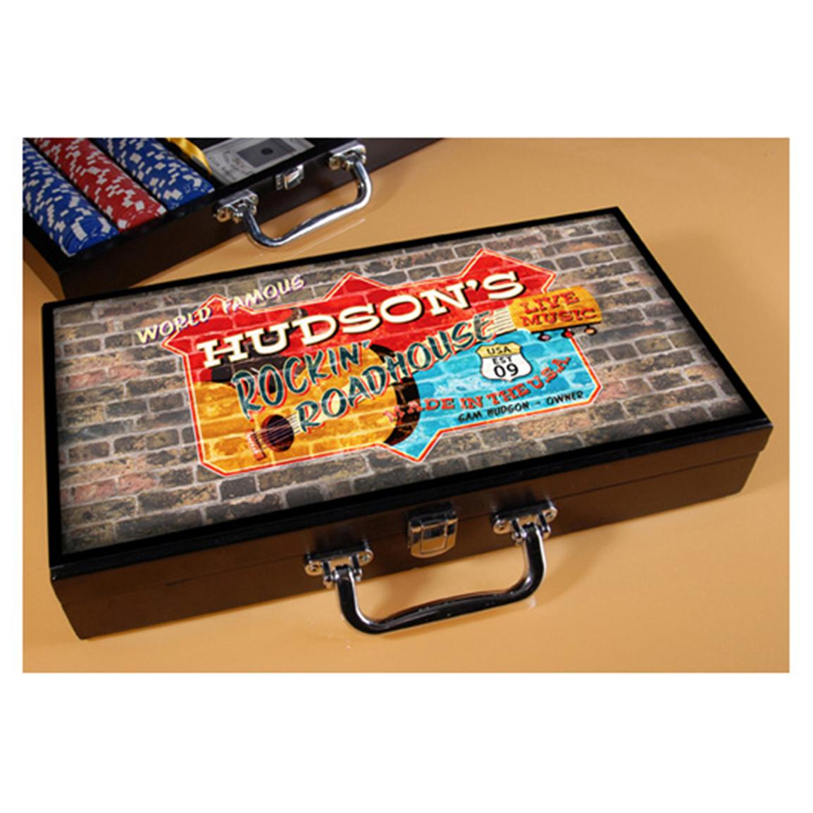 Personalized Roadhouse Poker Set