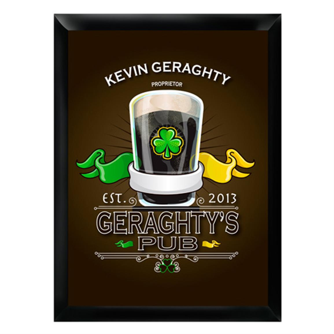 Personalized Traditional Irish Pub Sign