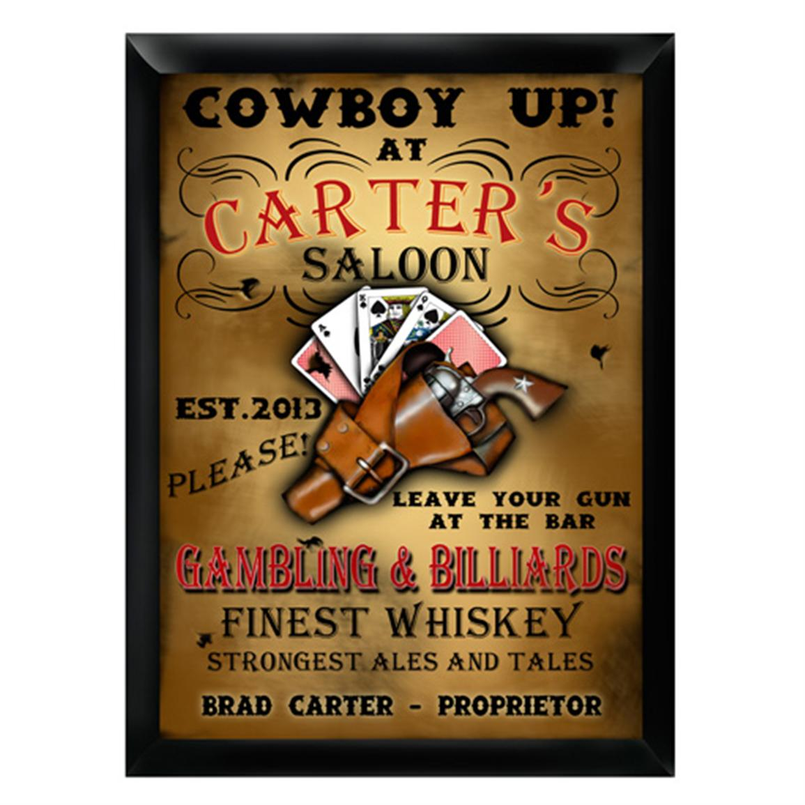 Personalized Traditional Saloon Pub Sign
