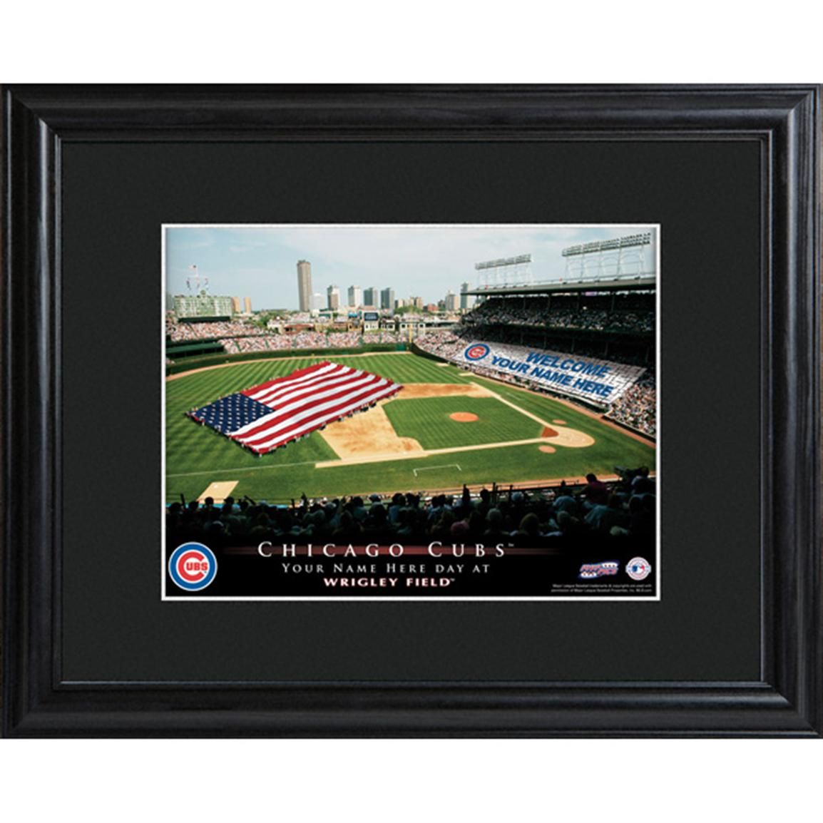 Personalized MLB Stadium Print, Chicago Cubs
