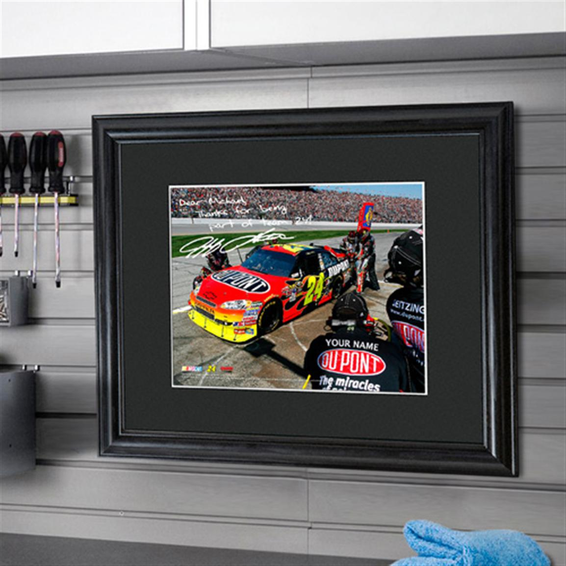 Personalized NASCAR Autographed Framed Print, Jeff Gordon