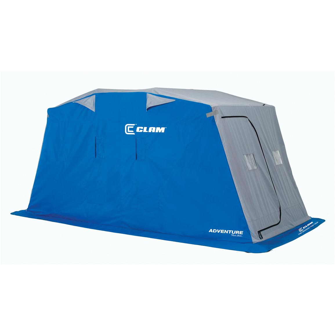 Clam™ Fish Trap Adventure X-Series 4-person Ice Shelter