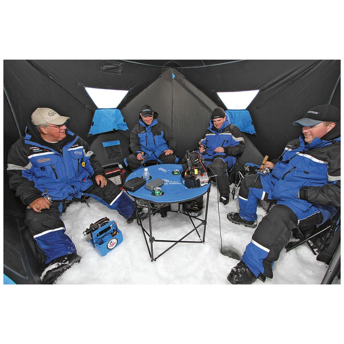 Offers 56 sq. ft. of space for up to 4 anglers to get comfortable