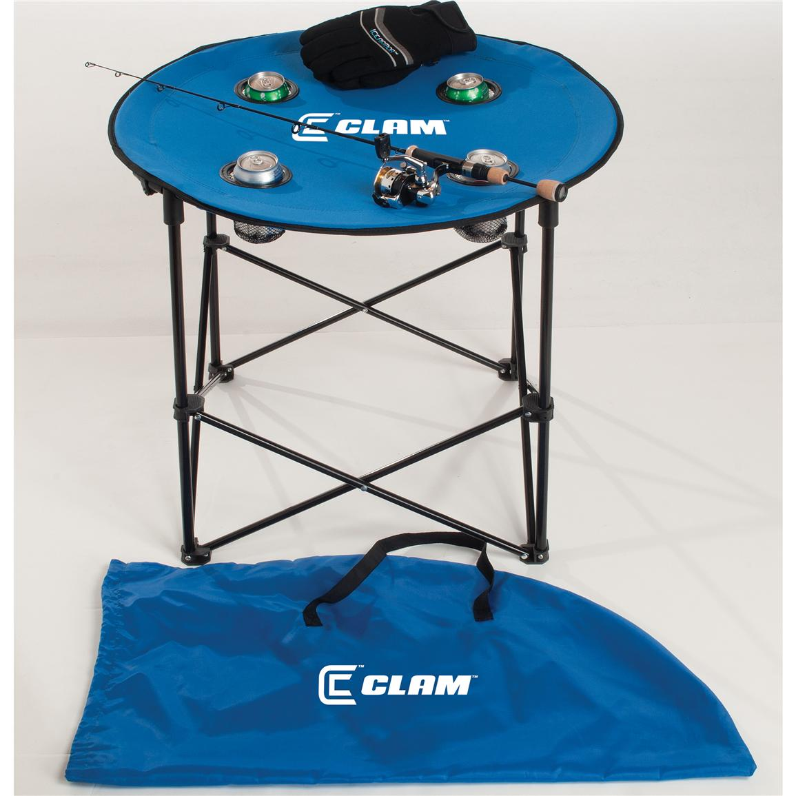 Clam™ Quick-pack Large Round Table with Case