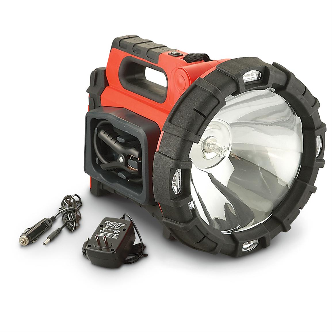 20-million Candlepower Search Light with 12-LED Area Light and Vehicle Jumpstarter Combo